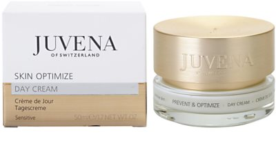 Juvena Prevent & Optimize creme de dia calmante para pele sensível 1