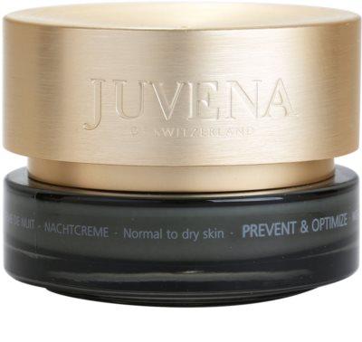 Juvena Prevent & Optimize Nachtcreme gegen Falten für normale und trockene Haut