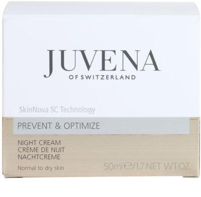 Juvena Prevent & Optimize creme de noite antirrugas para pele normal a seca 4