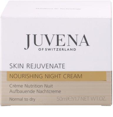 Juvena Skin Rejuvenate Nourishing crema de noche antiarrugas  para pieles normales y secas 4