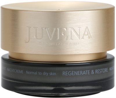 Juvena Regenerate & Restore creme de noite regerenador fortificante para pele normal a seca