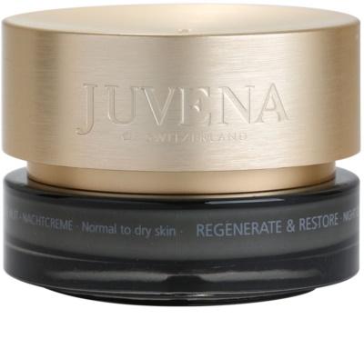 Juvena Regenerate & Restore Festigende regenerierende Nachtcreme für normale und trockene Haut