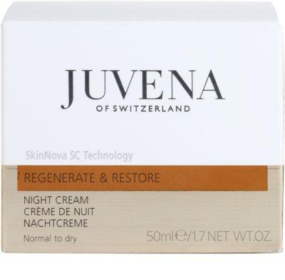 Juvena Regenerate & Restore Festigende regenerierende Nachtcreme für normale und trockene Haut 4
