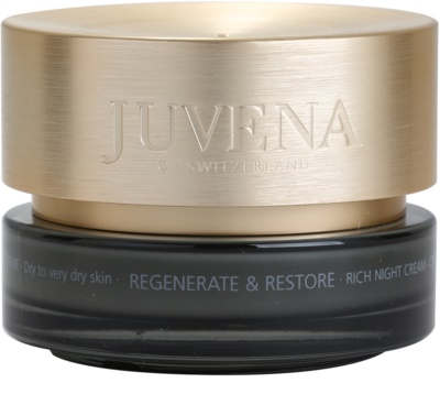 Juvena Regenerate & Restore crema de noapte hidratanta uscata si foarte uscata
