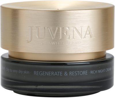 Juvena Regenerate & Restore creme de noite nutritivo e hidratante para pele seca a muito seca