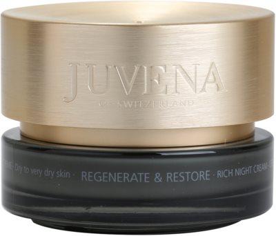 Juvena Regenerate & Restore Feuchtigkeitsspendende Nachtcreme mit ernährender Wirkung für trockene bis sehr trockene Haut