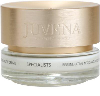 Juvena Specialists regenerierende Creme für Hals und Dekolleté