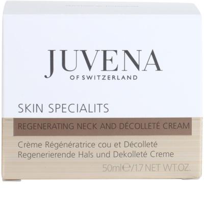 Juvena Specialists regenerierende Creme für Hals und Dekolleté 4