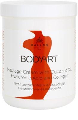 Kallos BodyArt masážní krém s kokosovým olejem, kyselinou hyaluronovou a kolagenem