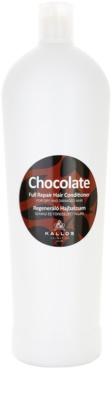 Kallos Chocolate regenerierender Conditioner für trockenes und beschädigtes Haar