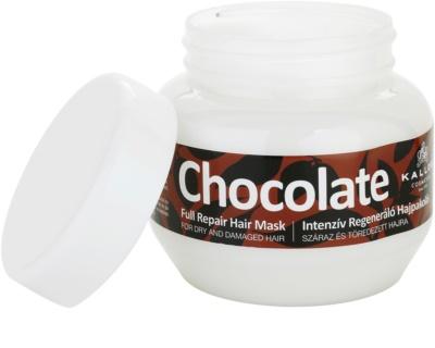 Kallos Chocolate máscara regeneradora para cabelo seco a danificado 1