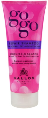 Kallos Gogo erneuerndes Shampoo für trockenes und zerbrechliches Haar
