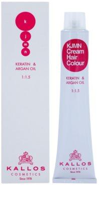 Kallos KJMN coloração de cabelo com queratina e óleo de argan
