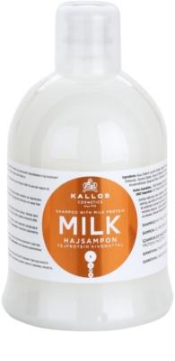Kallos KJMN champô hidratante  para cabelo seco a danificado