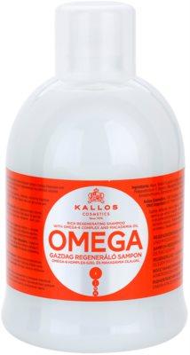 Kallos KJMN regeneráló sampon omega 6 komplexszel és makadámia olajjal