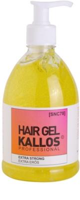 Kallos Hair Care gel de cabelo fixação extra forte