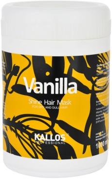 Kallos Vanilla mascarilla para cabello seco