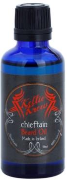Keltic Krew Chieftain aceite para barba con aroma de menta y canela