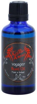 Keltic Krew Voyager óleo para barba com aroma de eucalipto