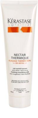 Kérastase Nutritive glättende und nährende Hitzeschutzmilch für trockenes Haar