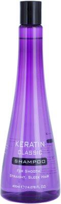 Keratin Classic Smooth champô para cabelos crespos e inflexíveis