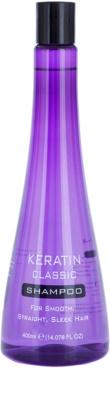 Keratin Classic Smooth Shampoo für unnachgiebige und strapaziertes Haar
