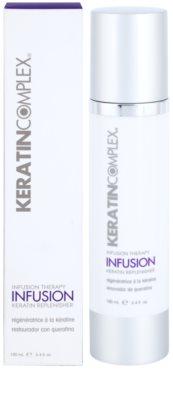 Keratin Complex Infusion Therapy creme regenerador de proteção para finalização térmica de cabelo 2