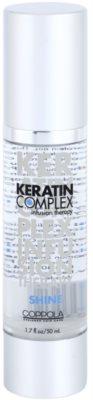 Keratin Complex Infusion Therapy óleo brilhar para cabelos secos e quebradiços