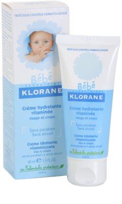 Klorane Bébé hidratáló krém arcra és testre 1