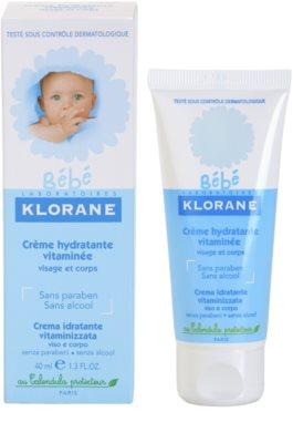 Klorane Bébé hidratáló krém arcra és testre 2