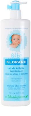 Klorane Bébé очищуюче молочко 1