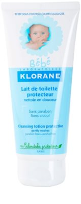 Klorane Bébé очищаюче молочко для дітей