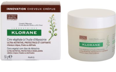 Klorane Crambe dAbyssinie hranilni vosek za valovite lase 2