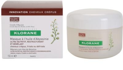 Klorane Crambe dAbyssinie máscara nutritiva para cabelo ondulado 2