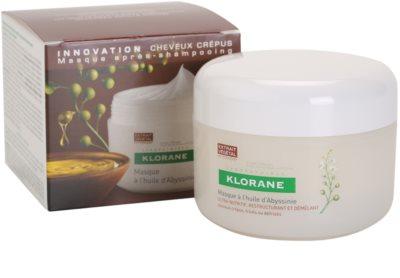 Klorane Crambe dAbyssinie máscara nutritiva para cabelo ondulado 3
