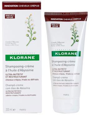Klorane Crambe dAbyssinie obnovitveni šampon za valovite lase 2