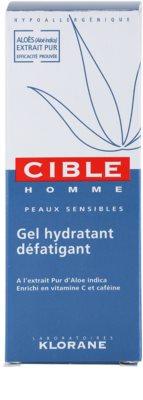 Klorane Cible Homme gel hidratante para pele cansada 4