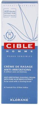 Klorane Cible Homme krém pro klasické holení 3