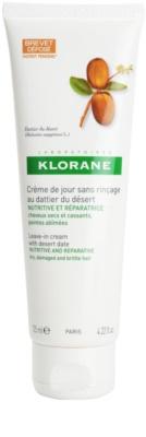 Klorane Dattier öblítés nélküli krémes ápolás a töredezett, károsult hajra