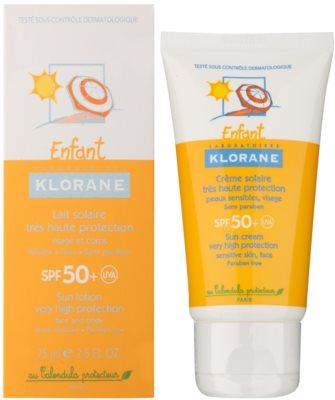 Klorane Enfant krema za sončenje za otroke SPF 50+ 4