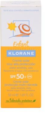 Klorane Enfant krema za sončenje za otroke SPF 50+ 3