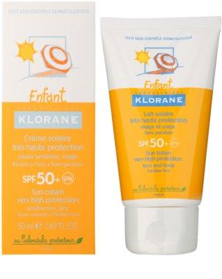 Klorane Enfant leche protectora de cuerpo y rostro SPF 50+ 4