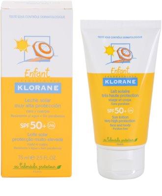 Klorane Enfant mleczko ochronne do ciała i twarzy SPF 50+ 2