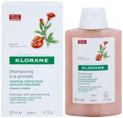 Klorane Grenade champú para cabello teñido 1