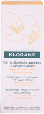 Klorane Hygiene et Soins du Corps creme depilatório calmante para rosto e zonas sensíveis 2