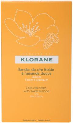 Klorane Hygiene et Soins du Corps воскові смужки для депіляції для ніг 3