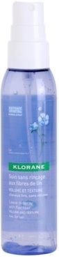 Klorane Flax Fiber spray bez spłukiwania nadający objętość i pogrubienie
