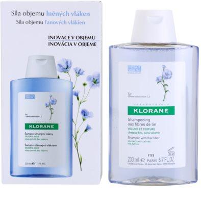 Klorane Flax Fiber šampon pro jemné a zplihlé vlasy 1