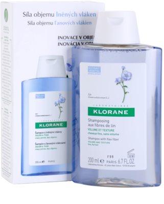 Klorane Flax Fiber šampon pro jemné a zplihlé vlasy 2