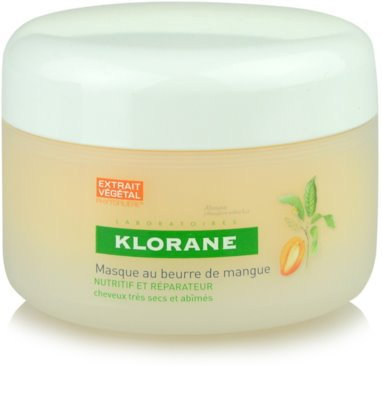Klorane Mangue máscara nutritiva para cabelo seco a danificado